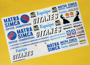 GITANES Race Transporter SLOT CAR 43rd SCALE DIECAST code 3 Decals Stickers
