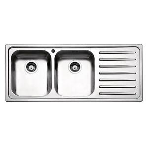 Lavello cucina Apell 116cm 2 vasche gocciolatoio dx Torino acciaio ...