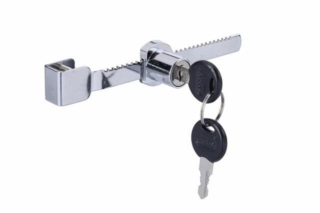 Keyed Alike Showcase Display 2 Pack WOOCH Sliding Glass Door Ratchet Lock with Chrome Finish