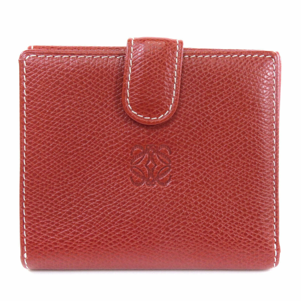 LOEWE Bifold Wallet with Coin Pocket Anag Lamb Leather