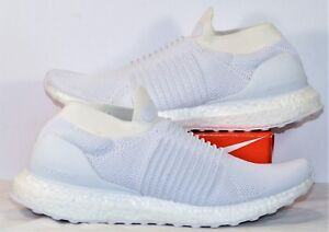 87df166945c7 Image is loading Adidas-Ultra-Boost-Laceless-Triple-White-Running-Shoes-