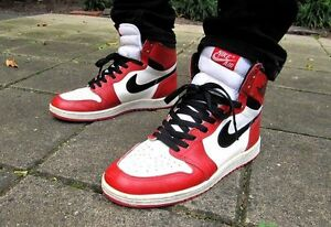 Nike Air Jordan 1 Retro High OG White Black-Varsity Red 555088-101 ... f32536bee