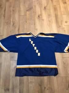 29f48e2ba97 Used 31 St Louis Blues hockey goalie cut jersey Practice beer league ...
