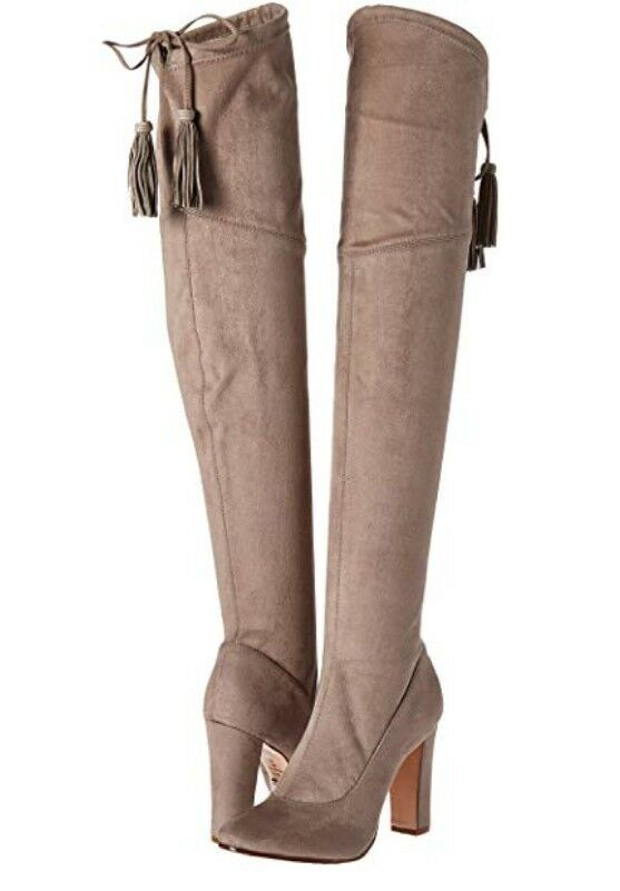 Schutz Womens Beau Over the Knee Suede Slouch Boot In Mousse 9  400 NIB