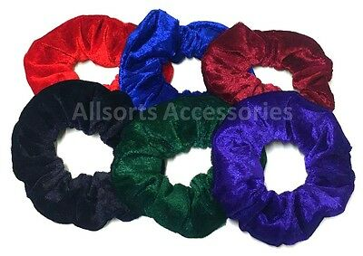 3 x Large Set Velvet Hair Scrunchies Elastic Scrunchy Bobbles Hair Ties Band 313