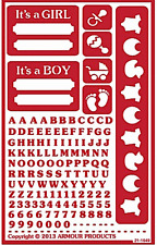 NEW! ~ Reusable Over n Over Glass Etching Stencil - ONO Reverse Boy-Girl