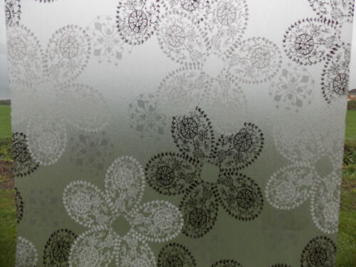 WHITE BLACK LACE PRIVACY FROST FROSTED GLASS STICKY VINYL WINDOW STATIC CLING