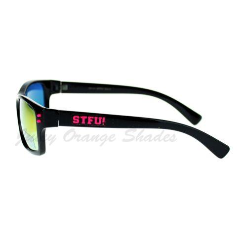 STFU Unisex Sunglasses Classic Rectangular Reflective Lens