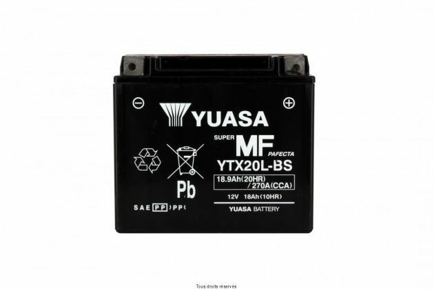 Batterie moto yuasa YTX20L-BS Can Am Outlander 400 4x4 2007 2008