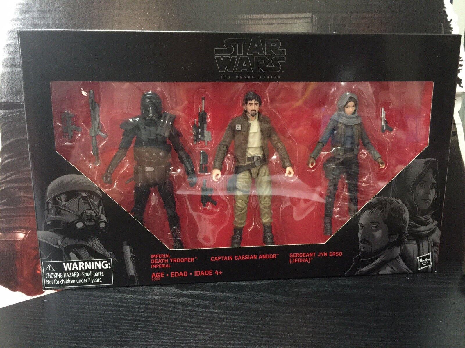 Star Wars Black Series Jyn Erso, Cassian Andor, Deathtrooper - Target Exclusive