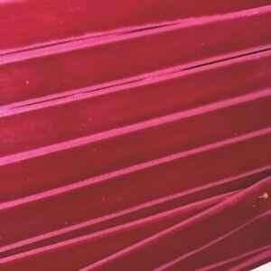 """Velvet Vintage 5/8"""" Berry Bordeaux Ribbon Trim  3yds Made in Switzerland"""