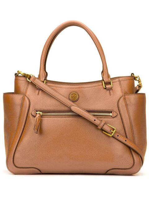 Tory Burch Bark Brown Frances Small Satchel Handbag Crossbody 520