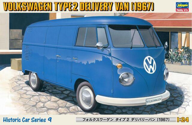 Hasegawa 21209 1967 VW Volkswagen tipo 2 van de entrega Kit plástico modelo 1/24
