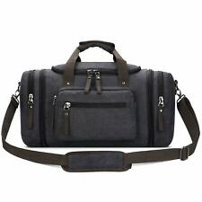PRASACCO 45L Duffel Bag Vintage Weekend Bag Travel Duffel Bag Canvas Overnight Bag for Women Men PRS006