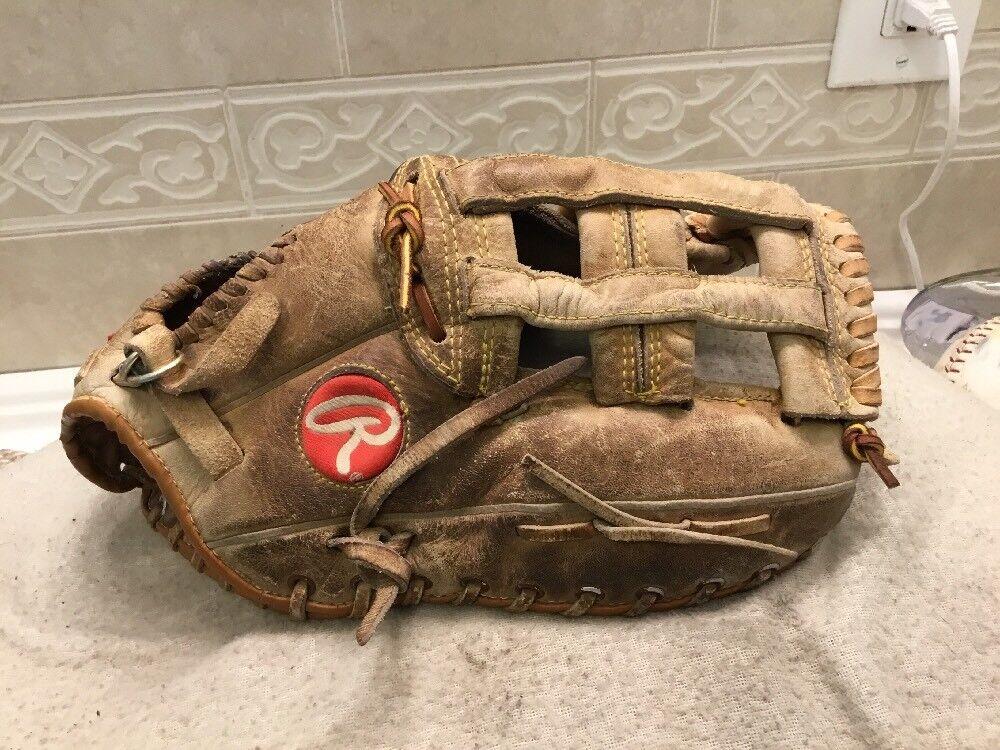 "Rawlings RFM-9 13"" 13"" RFM-9 Wally Joyner Baseball Softball First Base Mitt Right Throw 1684ab"