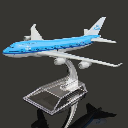 KLM Royal Dutch Airlines Boeing 747 Airplane 16cm DieCast Plane Model Aircraft