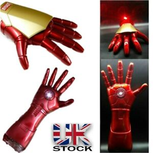 The Avengers Iron Man 1:1 Stark Updated Glove LED Light Hand Laser Cosplay Toys