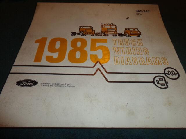 1985 Ford Truck Master Wiring Diagram Set Original Pickup