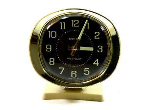 Vintage-WESTCLOX-BABY-BEN-Wind-Up-ALARM-CLOCK-Glow-In-The-Dark-Hands-Tested