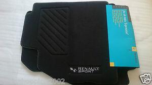4 tapis de sol textile renault sport megane ii 2 2002. Black Bedroom Furniture Sets. Home Design Ideas