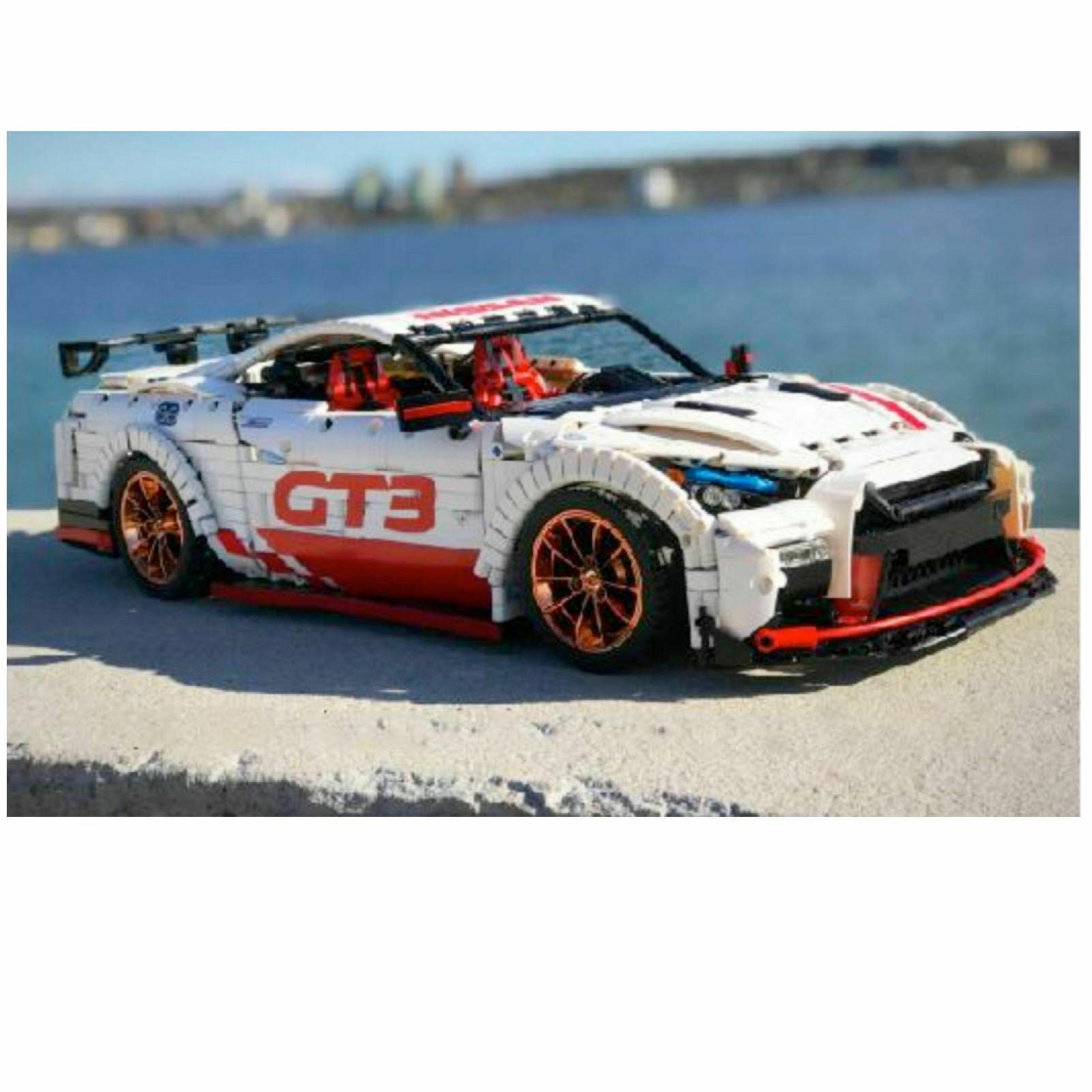 CAR NISSAN GTR GT3 NISMO RACE costruzione mattoni Technic Lego Compatibile