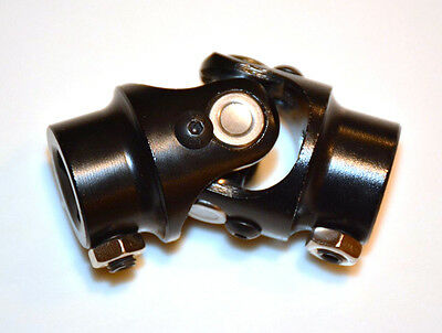 "BLACK Steering Shaft U-Joint 1"" DD x 3/4"" DD street rod"