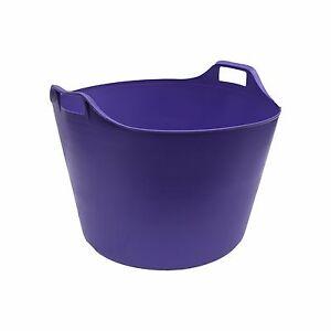 Violet Extra Large 76 L Flexi Tub Seau Trug stockage Flexible Panier Heavy Duty  </span>
