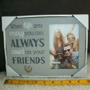 Best-Friends-Picture-Frame-4-x-6-Photo-Count-On-Your-Friends-Forever-Gift-New