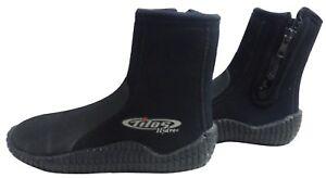Fins, Footwear & Gloves Boots, Booties Zip Booties 5mm Size 6 Scuba Gear Free Diving Snorkeling Tilos Titanium Hydro