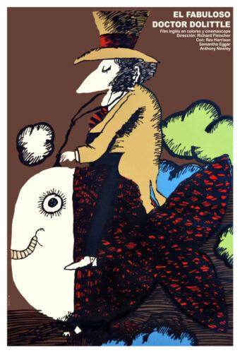 Movie Poster 4 british film El fabuloso Dr.Dolittle.Children Room art decoration