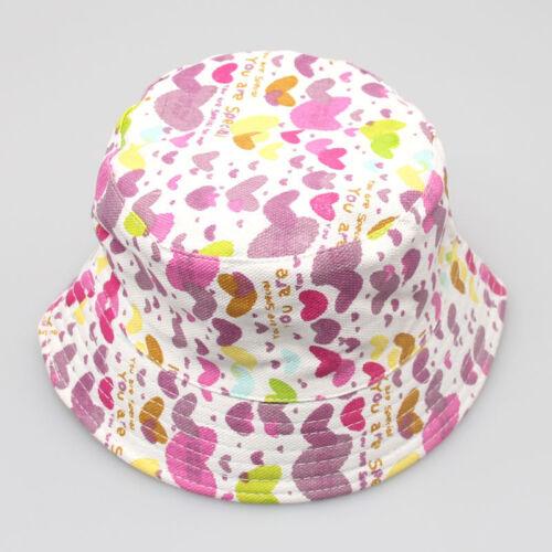 Nouveauté Unisexe Bébé Enfant Garçon Fille Motif Floral Coton Seau Chapeau Soleil Casque Cap