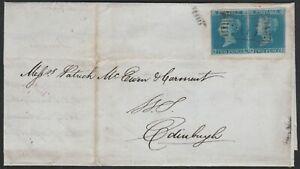 1841-SG14-2d-BLUE-PLATE-3-PAIR-COVER-STUARTON-303-SINGLE-TO-EDINBURGH-HA-HB
