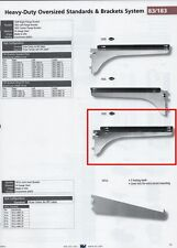"KV #183-CENTER-8"" SHELF BRACKET WITH DOUBLE LEDGE, STEEL, ZINC-PLATED"