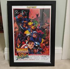 "Marvel vs CAPCOM Series Arcade Poster set of (FOUR) 12"" x 18"" size Naomi CPS2"
