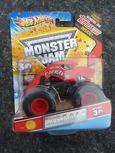 Hot-Wheels-Monster-Jam-CRUSHSTATION-1st-EDITION-2012-with-TOPPS-Card-RARE
