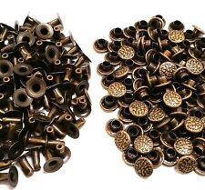 100 Pack ANTIQUE BRASS SMALL TEXTURED RAPID RIVETS 1271-36 Tandy Leather Rivet