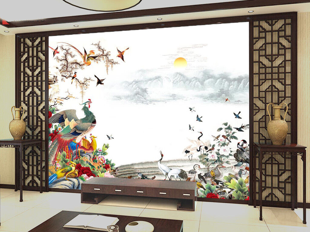3D Landscape Bird 9797 Wallpaper Mural Wall Print Wall Wallpaper Murals US Carly