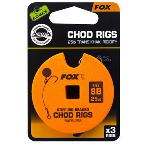 Karpfenmontage Fox Edge Armapoint stiff rig beaked Chod rigs Barbless