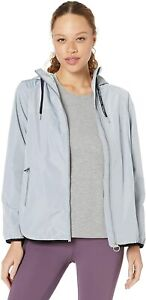 CALVIN-KLEIN-Women-039-s-Crossover-Back-Hooded-Spectator-Jacket-sz-M-Medium-Blue