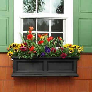 Flower Box Mayne Fairfield 11 In X 36 In Plastic Window Box Garden Planter 673995582211 Ebay