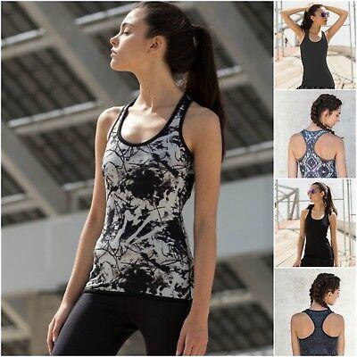 Gehorsam Womens Sports Gym Racer Back Running Vest 2in1 Reversible Fitness Yoga Tank Top Zahlreich In Vielfalt