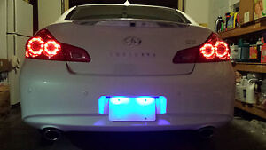 Blue Led License Plate Lights For Nissan 350z 2003 2009 2004 2005