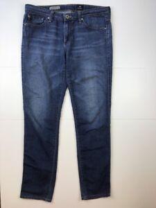 AG-Adriano-Goldschmied-034-The-Stilt-034-Cigarette-Leg-Med-Dark-Wash-Jeans-Size-30R