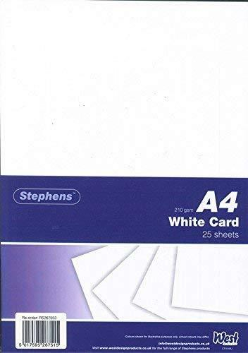 Stephens White Card 210gsm 25 Sheets