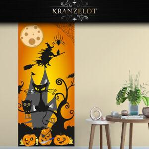 wandtattoo Tapete Türfolie Bordüre Folie Halloween Dekoration Hexe ...