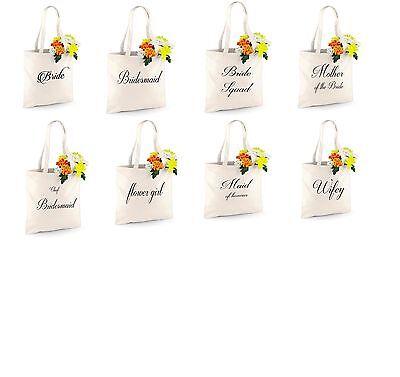 Personalizzata Festa Di Nozze Da Sposa Tote Bag Damigella Favore Nubilato Borsa Regalo-mostra Il Titolo Originale Ultima Moda