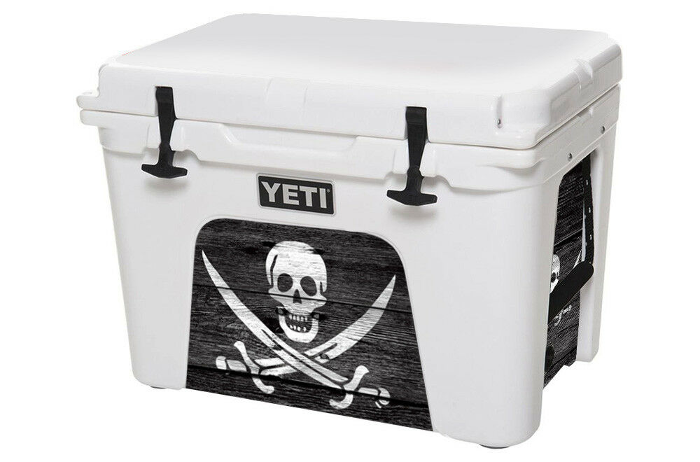 USATuff Cooler Decal Wrap fits YETI Tundra 110qt Faibleer Insert Pirate Flag WD