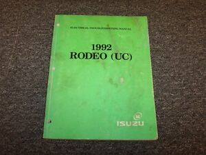image is loading 1992-isuzu-rodeo-suv-electrical-wiring-diagrams-manual-