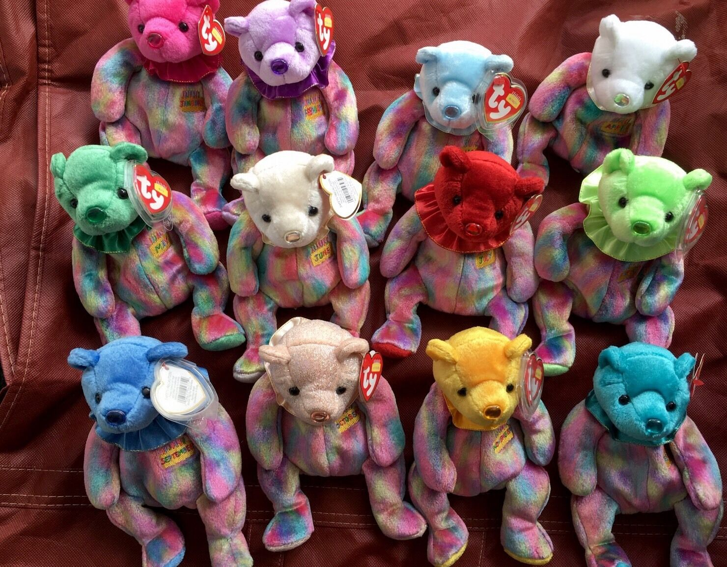 Complete set of Birthday Beanie Babies (12 months)