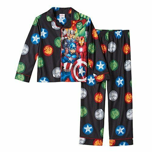 Marvel /'s  AVENGERS Flannel PJs Pajamas Boy Sizes 4  6 8 10  IRONMAN THOR HULK